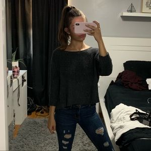 Hollister Charcoal Gray Knitted Sweater